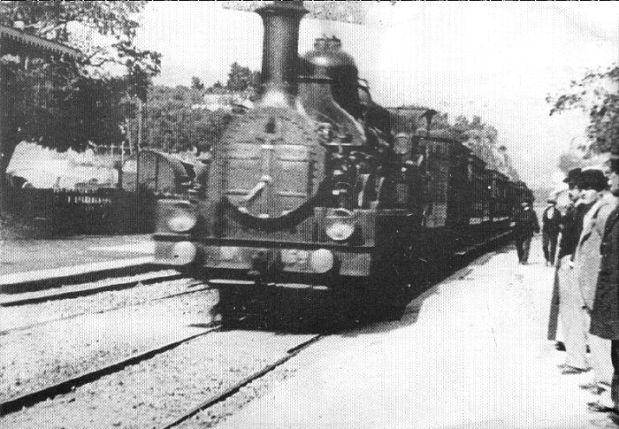 chegada do trem à estação